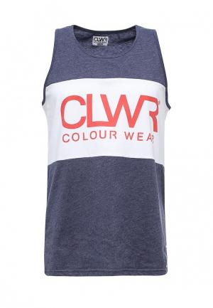 Майка CLWR. Цвет: синий