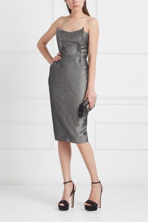 Платье-бюстье VIKTORIA IRBAIEVA. Цвет: серый