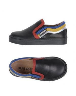 Низкие кеды и кроссовки QUIS. Цвет: черный