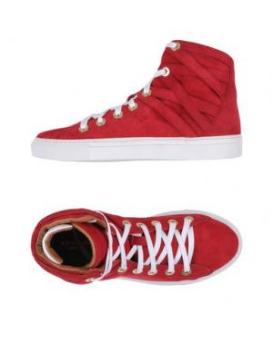 Высокие кеды и кроссовки AQUAZZURA. Цвет: красный