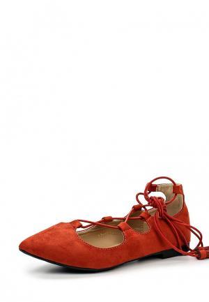 Туфли WS Shoes. Цвет: красный