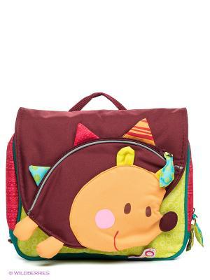 Рюкзак Lilliputiens. Цвет: бордовый, светло-оранжевый