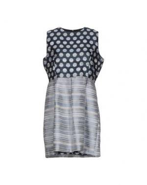 Короткое платье ANONYME DESIGNERS. Цвет: синий