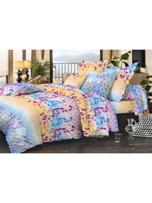 Комплект постельного белья, слим-сатин - 150*215, 1,5сп Dorothy's Нome. Цвет: бежевый, желтый, голубой