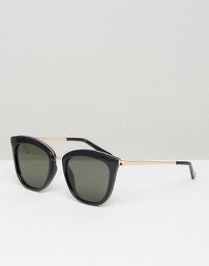 Le Specs Cолнцезащитные очки кошачий глаз. Цвет: черный