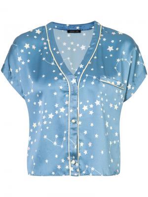 Joanie pyjama top Morgan Lane. Цвет: синий
