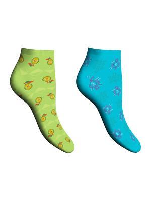Носки 2 пары Master Socks. Цвет: салатовый, бирюзовый