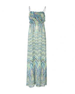 Длинное платье MANILA GRACE. Цвет: лазурный