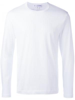 Футболка с принтом логотипа на спине Comme Des Garçons Shirt. Цвет: белый