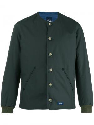 Куртка-бомбер на пуговицах Bleu De Paname. Цвет: зелёный