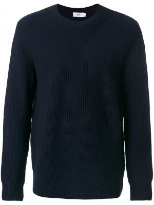 Ребристый трикотажный свитер Closed. Цвет: синий