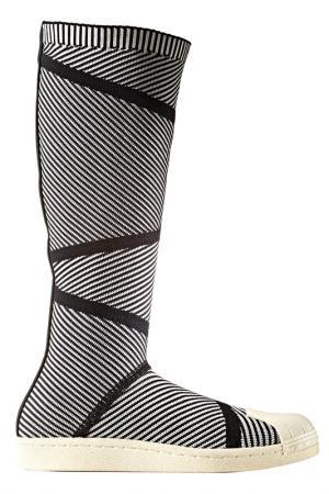 Сапоги adidas. Цвет: черный, белый