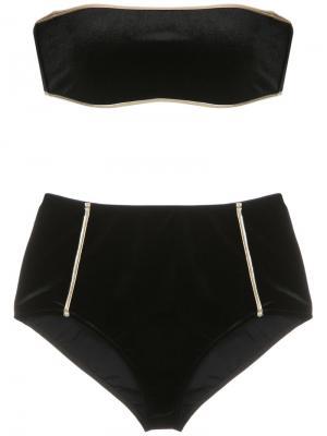 Hot pants velvet bikini set Adriana Degreas. Цвет: чёрный