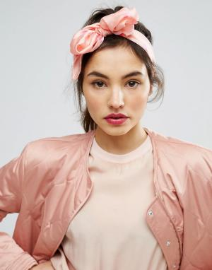 ASOS Головной платок с фламинго. Цвет: розовый