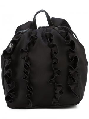 Рюкзак с оборками 3.1 Phillip Lim. Цвет: чёрный