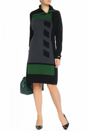 Платье Paola Joy. Цвет: черно-зеленый