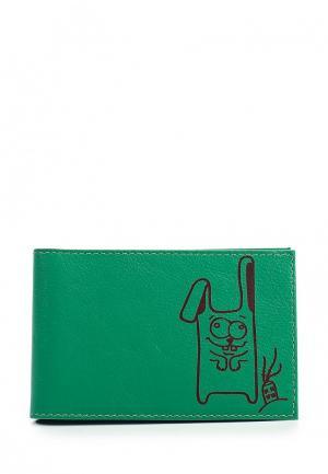 Визитница Fabula. Цвет: зеленый