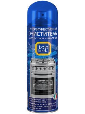 Top house суперэффективный очиститель плит, духовок и СВЧ печей, 300мл, (аэрозоль).. Цвет: синий