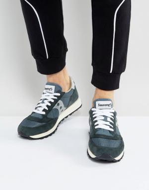 Saucony Темно-синие кроссовки в винтажном стиле Jazz Original S70368-4. Цвет: темно-синий