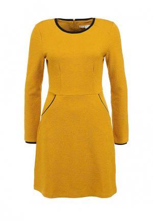 Платье Uttam Boutique. Цвет: горчичный