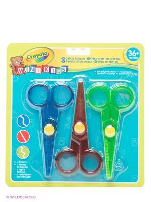 Набор ножниц Crayola. Цвет: синий, зеленый, бордовый