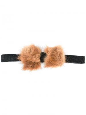 Меховой галстук-бабочка Fefè. Цвет: коричневый