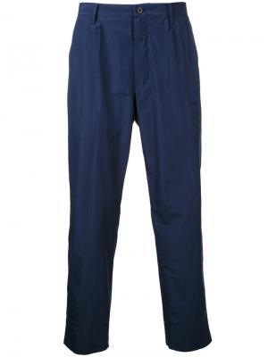 Укороченные прямые брюки 08Sircus. Цвет: синий