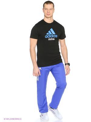 Футболка Community T-Shirt MMA Adidas. Цвет: черный, синий