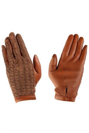 Перчатки Agnelle. Цвет: рыжий