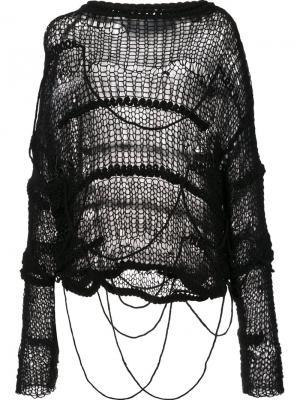 Джемпер свободно вязки Isabel Benenato. Цвет: чёрный