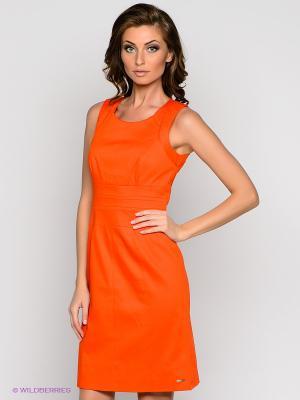Платье VILA JOY. Цвет: оранжевый