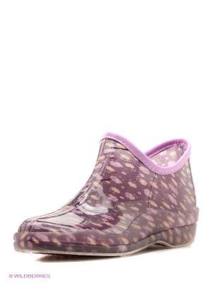Резиновые сапоги BRIS. Цвет: фиолетовый