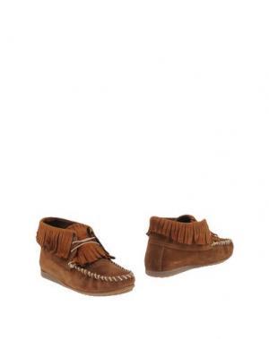 Полусапоги и высокие ботинки JOYKS. Цвет: верблюжий