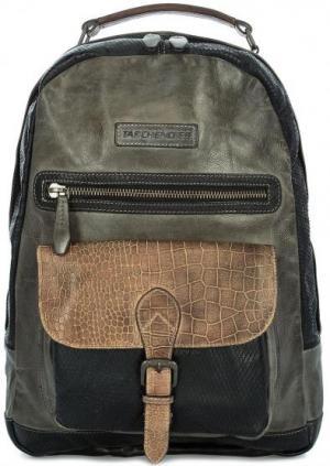 Кожаный рюкзак с отделением для ноутбука Taschendieb. Цвет: серый