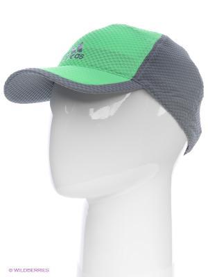 Кепка Adidas. Цвет: салатовый, серый