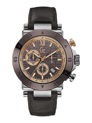 Часы GC. Цвет: темно-коричневый, серебристый, красный, золотистый