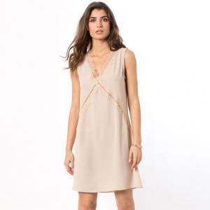 Платье AN'GE. Цвет: песочный