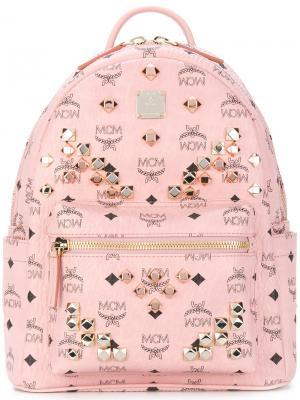 Рюкзак MCM. Цвет: розовый и фиолетовый