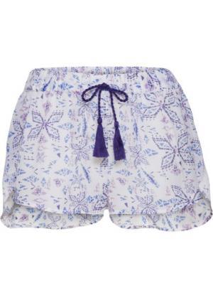 Пляжные шорты (белый с рисунком) bonprix. Цвет: белый с рисунком