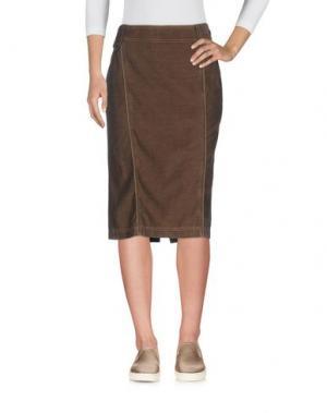 Джинсовая юбка TRUSSARDI JEANS. Цвет: темно-коричневый