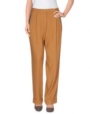 Повседневные брюки MARCO DE VINCENZO. Цвет: коричневый