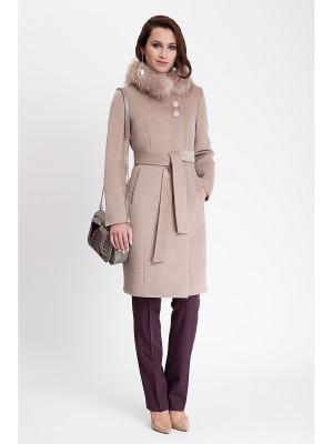 Пальто Electrastyle. Цвет: светло-коричневый