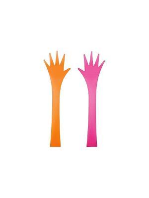 Набор для салата/ЛОВКИЕ РУЧКИ/оранжевый+фуксия Zak!designs. Цвет: оранжевый, фуксия