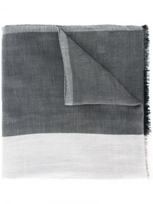 Платок с необработанными краями Bally. Цвет: серый