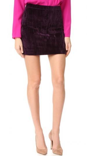 Бархатный мини-юбка Nina Ricci. Цвет: темно-фиолетовый