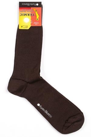 Носки 2 пары Punto Blanco. Цвет: коричневый