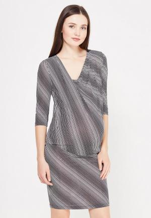 Платье Фэст. Цвет: черно-белый