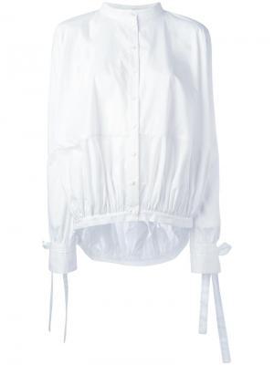 Рубашка с воротником-стойка Antonio Berardi. Цвет: белый