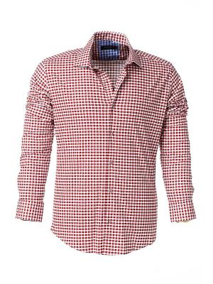 Рубашка BAWER. Цвет: красный