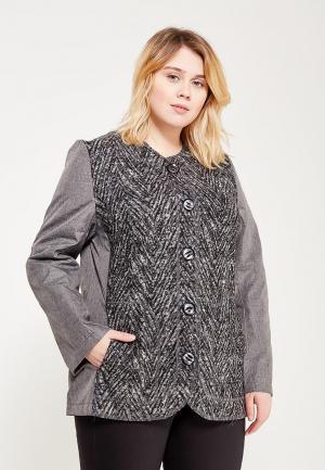 Куртка утепленная Leshar. Цвет: серый